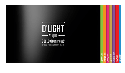 Capture du catalogue de la gamme d'e-liquides D'LIGHT